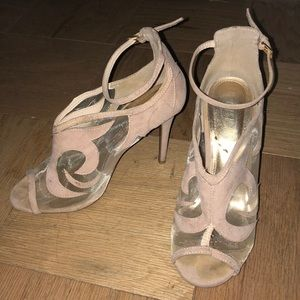 Nude mesh sandal